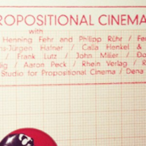 STUDIO FOR PROPOSITIONAL CINEMA #1